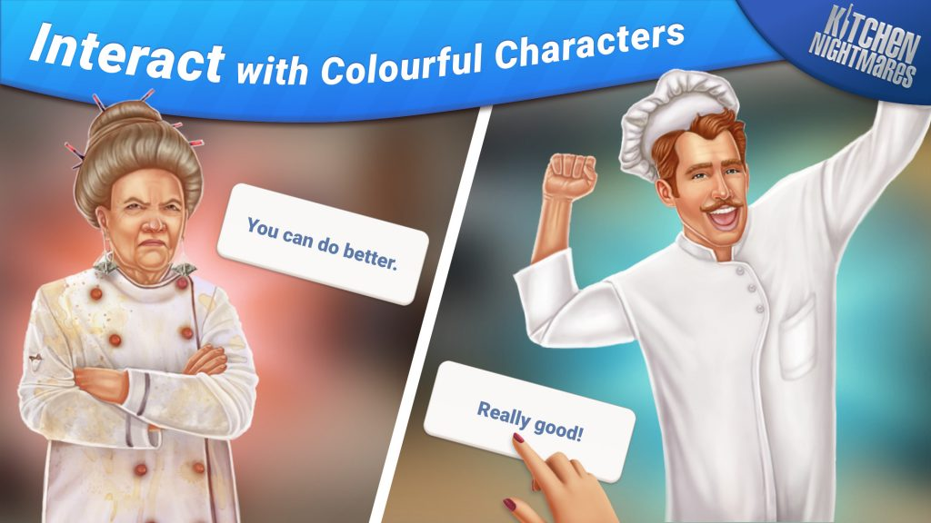 Interact with colorful characters